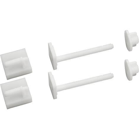 fijaciones tapa WC tornillos 8x75 mm - cabeza cuadrada 27 + corredera x2