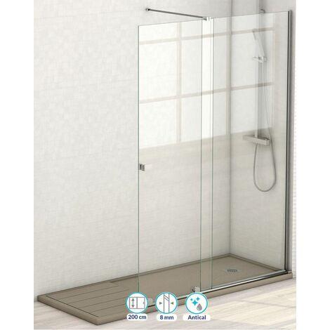 Fijo de ducha Málaga 1 Puerta + 1 Fijo   Cromo - 185 cm