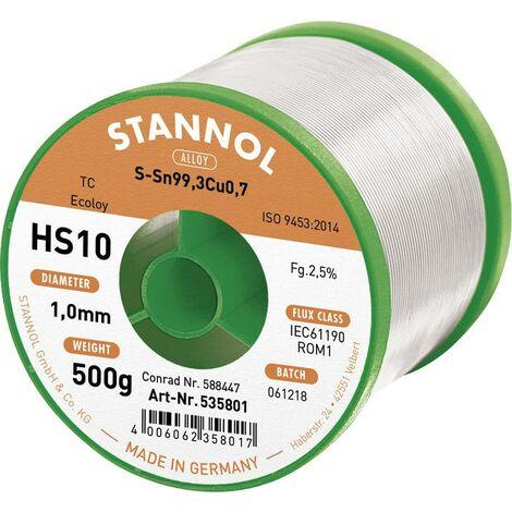 Fil à souder sans plomb HS10 SN99CU1 1mm 500g Stannol S66114