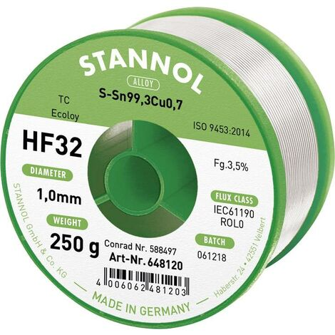 Fil à souder sans plomb ni halogène HF32 3500 S66104