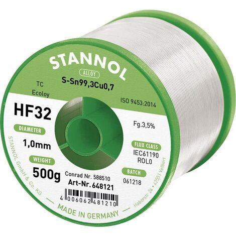 Fil à soudure HF32 3500 Sn99Cu0,7 sans plomb, sans halogène S66397