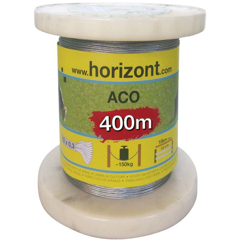 Fil ACO acier galvanisé monocordon 400m - Horizont