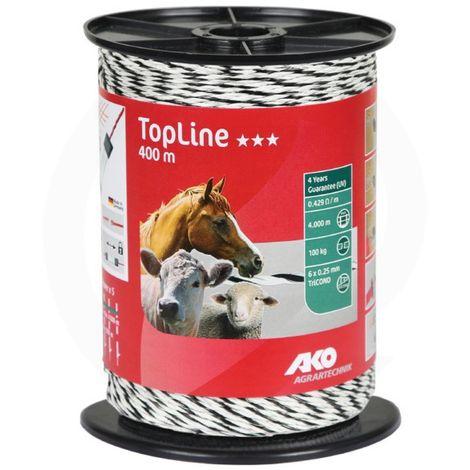 Fil cloture Topline - 400mx3mm - Ako