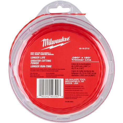 Fil coupe bordure 2mm x 45m MILWAUKEE ACCESSOIRES - 49162712 - -