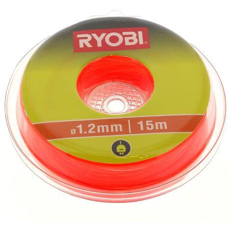 Fil d=1,2mm orange (15m) pour Coupe bordures Ryobi, Coupe bordures Id-tech, Coupe bordures Sworn, Coupe bordures Trimma, Coupe bordures Carrefour