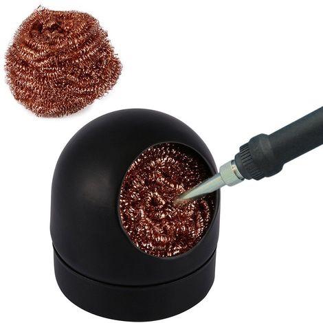 Fil d'acier de nettoyage de décapant de pointe de fer à souder de soudure de soudure avec l'ensemble de support LAVENTE