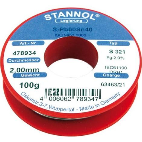 Fil d'apport, Modèle : Bobine de 250 g, Ø 2,0 mm