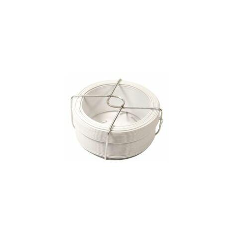 Fil d'Attache Plastifié Blanc - Diamètre 1.15mm - Longueur 50m