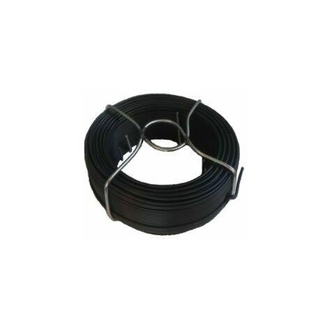 Fil d'Attache Plastifié Gris - Diamètre 1.15mm - Longueur 50m
