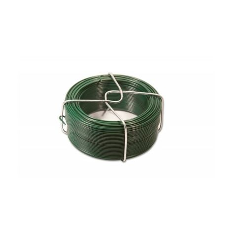 Fil d'Attache Plastifié Vert - Diamètre 1.10mm - Longueur 45m