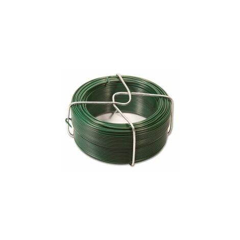 Fil d'Attache Plastifié Vert - Diamètre 1.15mm - Longueur 50m