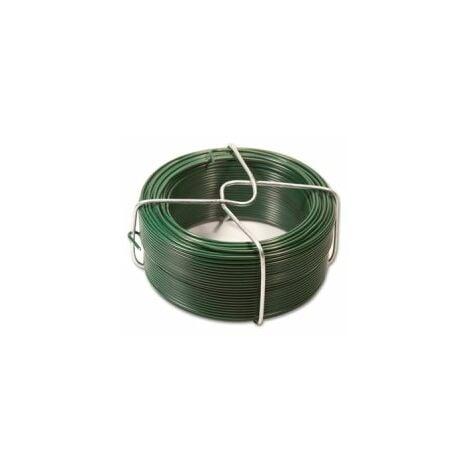 Fil d'Attache Plastifié Vert - Diamètre 1.35mm - Longueur 50m