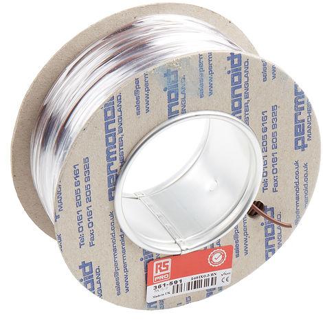 Fil de câblage RS PRO, 0,2 mm², 24 AWG, 600 V c.a. Polyamide Blanc, bobine 100m