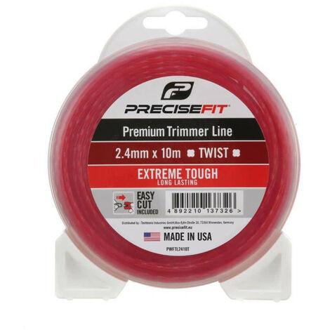 Fil de coupe bordure universel PRECISEFIT nylon 2,4mm - torsadé - 10m PWFTL2410T