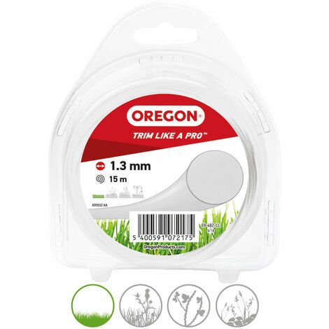 Fil de coupe Coloured Line Oregon, Transparent, épaisseur de fil 1,3 mm