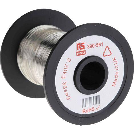 Fil de cuivre 0,03 mm² RS PRO 32 AWG Mono conducteur diamètre 0,21mm, longueur 717m