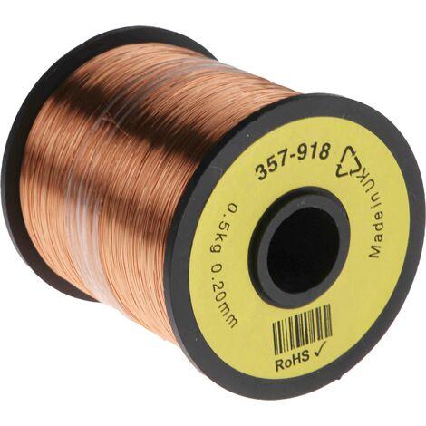 Fil de cuivre 0,03 mm² RS PRO 32 AWG Mono conducteur diamètre 0.23mm, longueur 1600m