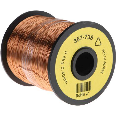 Fil de cuivre 0,13 mm² RS PRO 26 AWG Mono conducteur diamètre 0,45mm, longueur 400m