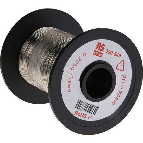 Fil de cuivre 0,2 mm² RS PRO 24 AWG Mono conducteur diamètre 0,51mm, longueur 114m
