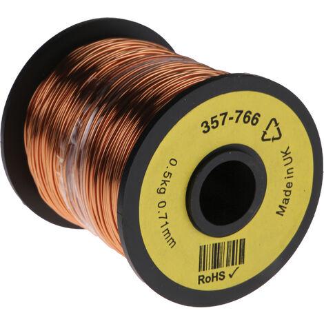 Fil de cuivre 0,4 mm² RS PRO 21 AWG Mono conducteur diamètre 0,78mm, longueur 120m