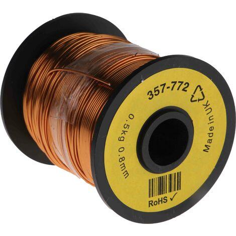 Fil de cuivre 0,52 mm² RS PRO 20 AWG Mono conducteur diamètre 0,87mm, longueur 100m