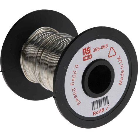 Fil de cuivre 0,7 mm² RS PRO 19 AWG Mono conducteur diamètre 0,91mm, longueur 34.6m