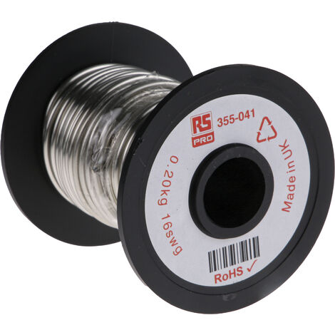 Fil de cuivre 1,3 mm² RS PRO 16 AWG Mono conducteur diamètre 1.63mm, longueur 11.4m