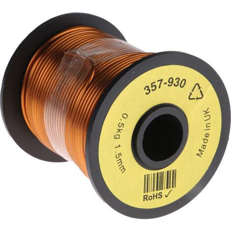 Fil de cuivre 1,5 mm² RS PRO 15 AWG Mono conducteur diamètre 1.59mm, longueur 30m