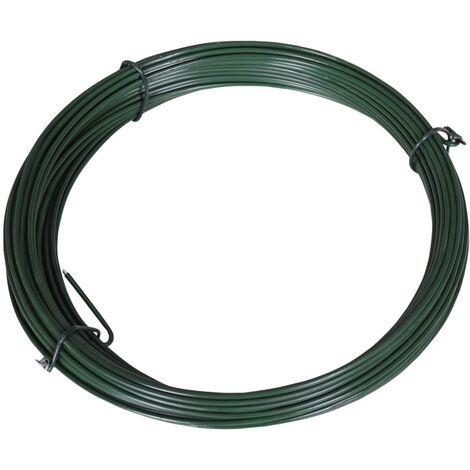 Fil de liaison de clôture 25 m 1,4/2 mm Acier Vert