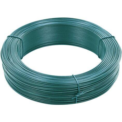 Fil de liaison de clôture 250 m 0,9/1,4 mm Acier Vert noirâtre