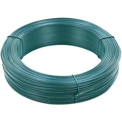 Fil de liaison de cloture 250 m 0,9/1,4 mm Acier Vert noiratre