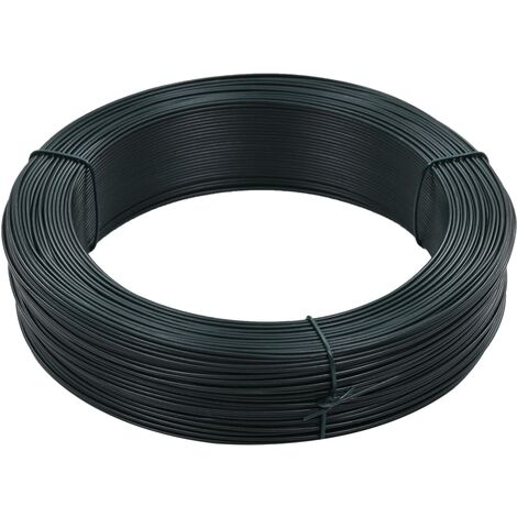 Fil de liaison de clôture 250 m 1,4/2 mm Acier Vert noirâtre