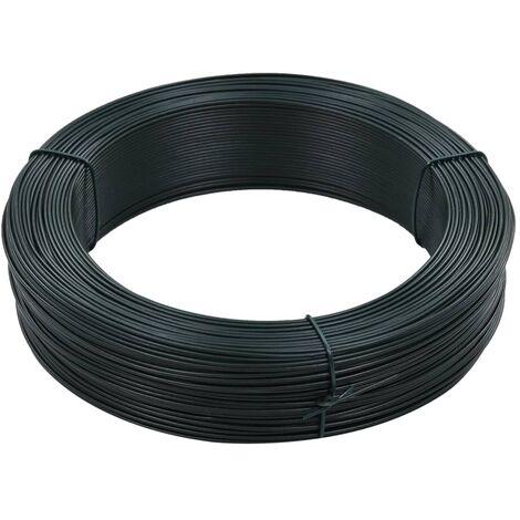 Fil de liaison de cloture 250 m 1,4/2 mm Acier Vert noiratre