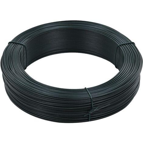 Fil de liaison de clôture 250 m 1,6/2,5 mm Acier Vert noirâtre