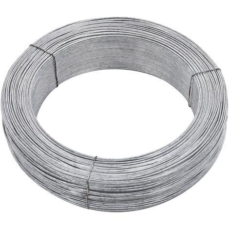Fil de liaison de clôture 250 m 3,8 mm Acier