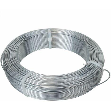 Fil de tension en acier galvanisé pour grillage ou autre - 100 m x 2.2mm Ø - Gris - Linxor