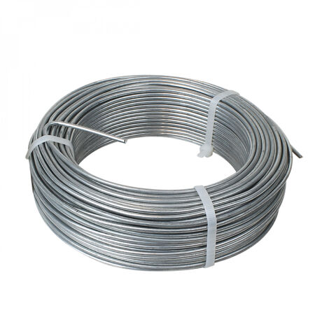 Fil de tension en acier galvanisé pour grillage ou autre - 100 m x 2.7mm Ø - Gris - Linxor