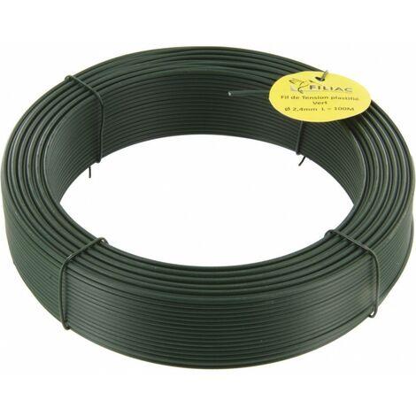 Fil de tension galvanisé plastifie vert 2,4 100