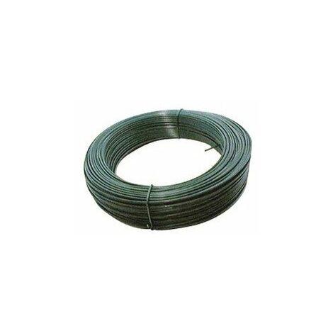 Fil de tension galvanisé plastifie vert 2,4 25