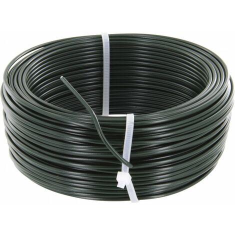 Fil de tension galvanisé plastifie vert 2,7 100