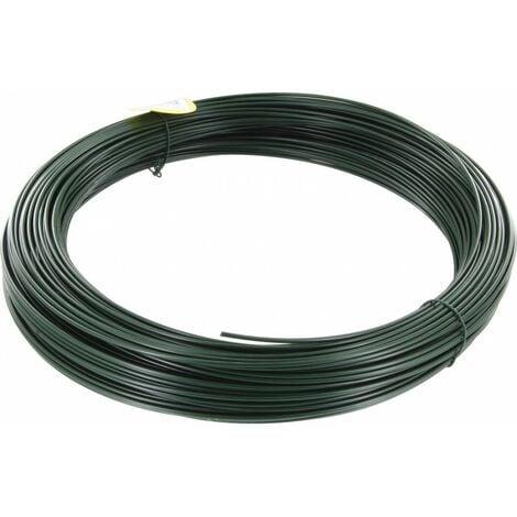 Fil de tension galvanisé plastifie vert 2,75 100