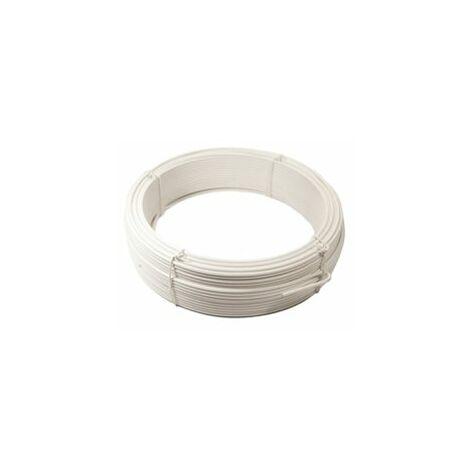 Fil de Tension Plastifié Blanc - Diamètre 2,4mm - 100 mètres