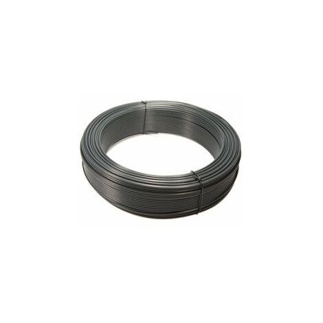 Fil de Tension Plastifié Gris - Diamètre 2,4mm - 100 mètres