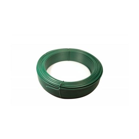 Fil de Tension Plastifié Vert - Diamètre 2,4mm - 100 mètres