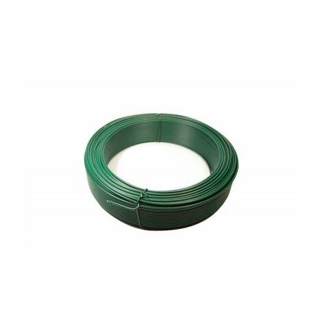 Fil de Tension Plastifié Vert - Diamètre 2,4mm - 25 mètres