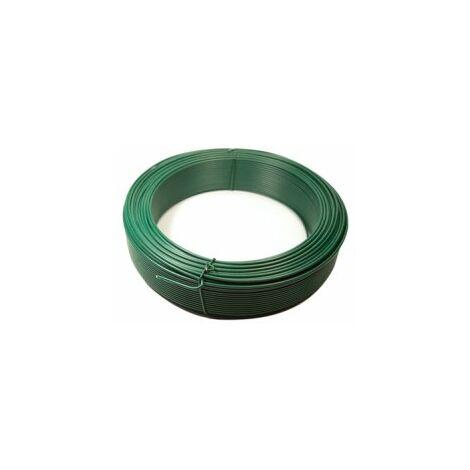 Fil de Tension Plastifié Vert - Diamètre 2,4mm - 50 mètres