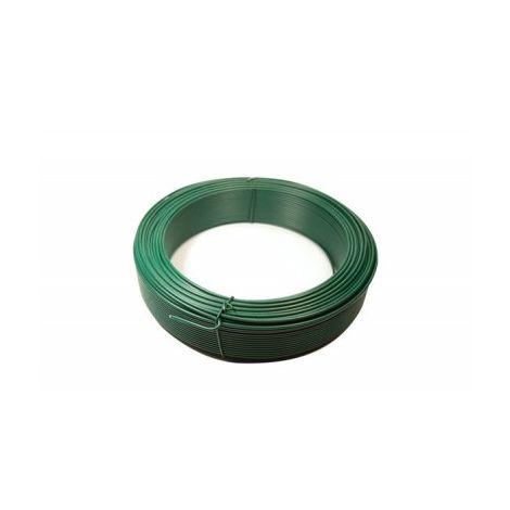 Fil de Tension Plastifié Vert - Diamètre 2mm - 25 mètres