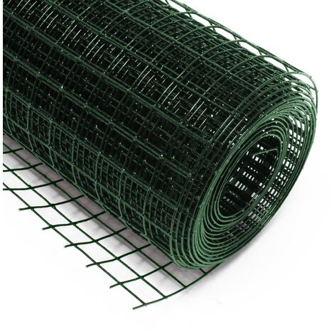 Fil de voli�re 4 coins avec maille 19x19mm 50cmx25m en vert