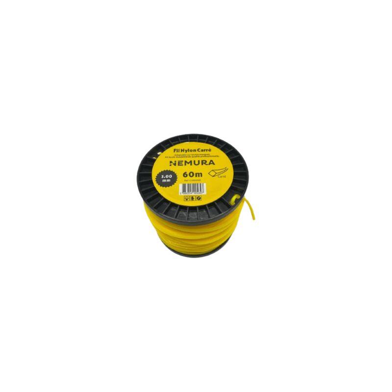 Adaptable - Fil Débroussailleuse Carré L: 60m, Ø: 3,00mm
