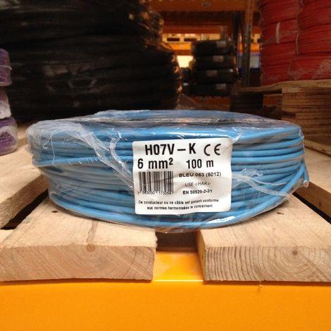 """main image of """"Fil Électrique 6mm2 Bleu Souple H07VK 100m SERMES"""""""